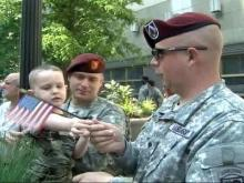 Raleigh Gives Big Salute to Troops