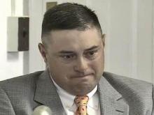 Former Highway Patrol Sgt. Charles Jones testifies in his suit against the state on April 30, 2008.
