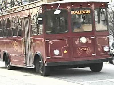Downtown Raleigh trolley