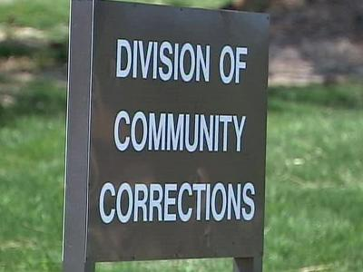 Division of Community Corrections sign, probation department