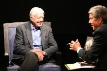 The former president talked to David Crabtree about his new book, and the presidential primary.
