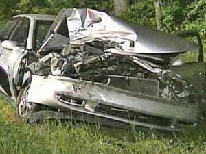 A Buick sedan was involved in a three-vehicle wreck on Red Mill Road on Friday, May 16, 2008.