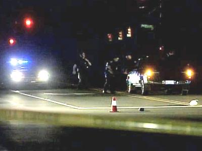 A woman was trying to cross Weaver Dairy Road at Perkins Drive around 8:45 p.m. Saturday, when she was hit by a pickup truck.