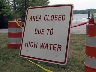 About a third of the campsites at Kerr Lake are flooded because of an above-normal lake level.