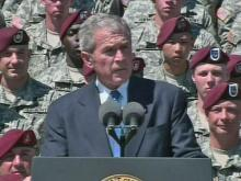 President Bush addresses 82nd Airborne troops