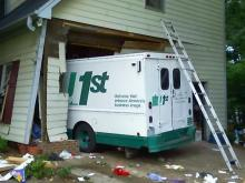 Truck crashes into house but neighbors not surprised