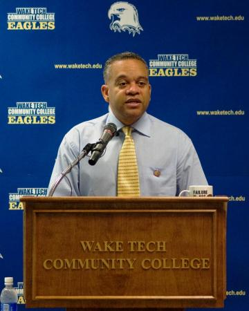Barry Street was introduced as the first director for athletics at Wake Tech on June 5, 2008.