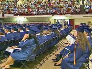 North Carolina State University's Reynolds Coliseum, which lacks air conditioning, sweltered during a Wake County high school graduation on June 11, 2008, when temperatures were in the low 90s.