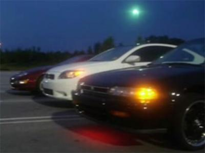 An image from a YouTube video posted Sept. 9, 2007, of street racing in Raleigh.