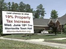 Morrisville homeowners voice concerns over tax hike