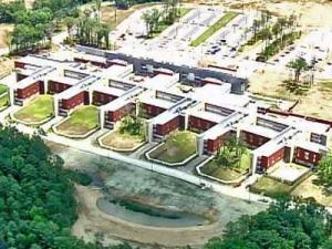 An aerial view of Central Regional Hospital, a state psychiatric facility scheduled to open in mid July 2008.