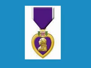 The Purple Heart is awarded to U.S. service personnel wounded in action.