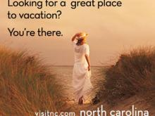 One of several advertisements that's part of a campaign launching this week to promote tourism in North Carolina. (Image courtesy of the North Carolina Division of Tourism, Film and Sports Development)