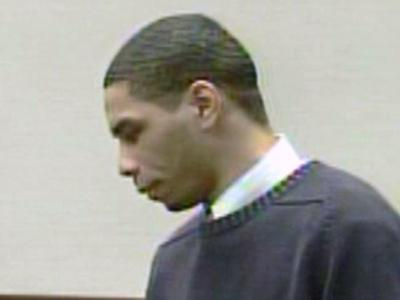 Jakiem Wilson, accused of killing his wife Nneka Wilson in February 2007, appears in a Wake County courtroom for the first day of his murder trial on July 1, 2008.