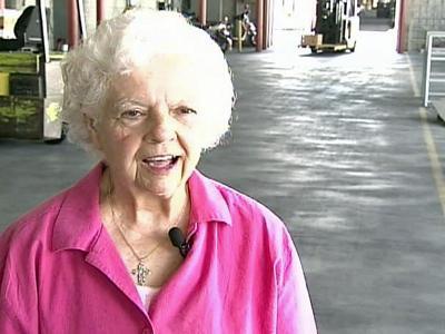 Inter-Faith Food Shuttle volunteer Ann Bumgardner as volunteered with the food shuttle for more than 15 years.