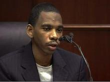 """Testifying July 1, 2008, in the murder trial of Jakiem Lance Wilson, Jamie Russell Holder said Wilson """"would kill him, too"""" if he did not help cover up evidence in the April Feb. 12, 2007, stabbing death of Nneka Wilson."""