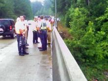 Officials were searching for the body of a 23-year-old man who drowned in Falls Lake on Saturday, July 5, 2008.