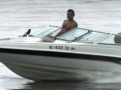 Boaters at B. Everett Jordan Lake on Saturday, July 5, 2008.