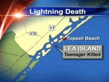 Teen killed by lightning on NC island