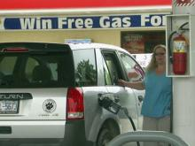 Businesses give away gas cards