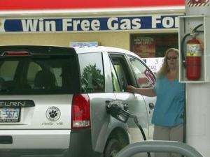 Local businesses are giving away gas cards as a way to lure customers in.