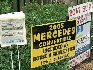 One homeowner in Wrightsville Beach is offering to toss a car into the deal in an effort to get a competitive edge in the slowing market for beach property.