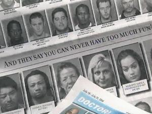 "Like a page out of a yearbook, photos are lined up one right after the other. But it's no class picture. These are mug shots from one week in Wake County for a weekly paper called ""The Slammer."""