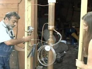 Wendell Cifers has built a still that he says can make ethanol.