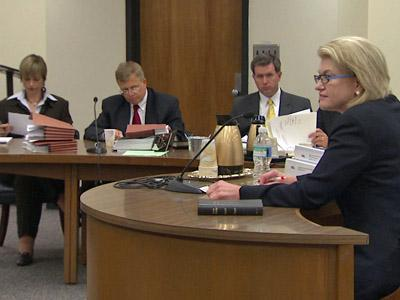 Duke Energy Carolinas President Ellen Ruff testifies Monday before the state Utilities Commission.