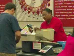 Target is marking down back-to-school items this weekend to coincide with the state's sales-tax free holiday.