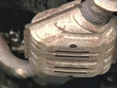 Thieves can recover and sell the small amounts of precious metals in the catalytic converters.