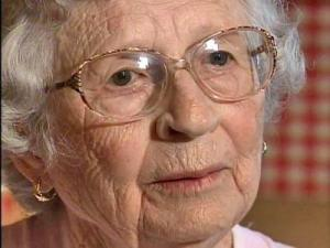 Hazel Wood, 91, of Angier, says she hopes her frightening tale of being robbed by men posing as a carpet salesmen can teach other elderly people to be more cautious.
