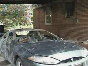 The fire started Wednesday evening in the carport of a Fayetteville family's home.