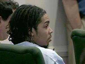 Demario James Atwater, 22, appears in court Aug. 11, 2008, for a hearing to determine whether he will face the death penalty if convicted of killing UNC senior Eve Carson.