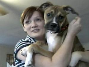 Donna Sherrod and her dog, Lilley