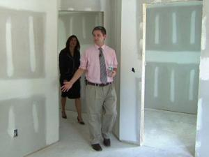 Will Hartye checks out his new home on Aug. 12, 2008.