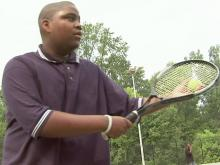 Teen tennis player inspired by legendary star