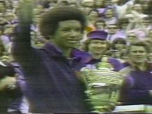 Ashe is still the only black player to have won the men's singles at Wimbledon, the U.S. Open and the Australian Open.