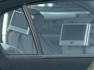 Portable DVD players in car