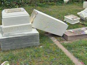 Lanny Ray Marler II, 29, was convicted of damaging more than 100 grave sites at Cross Creek Cemetery in Fayetteville between Aug. 11 and 14, 2006.