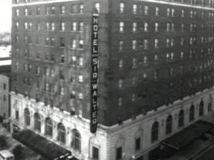 The Sir Walter Raleigh Hotel during the 1920s. (photo courtesy of the Raleigh City Museum)