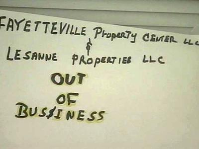 Lessane Properties LLC and Fayetteville's Property Center were shut-down Wednesday, Sept. 10, 2008.