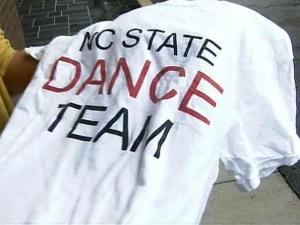 N.C. State dance team shirt