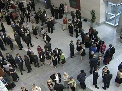 A formal gala celebrating everyone who has been instrumental in creating Raleigh's new convention center was held Wednesday evening.