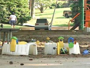Parents whose children play in Roanoke Park in Five Points said they leave behind toys in the park, so that other children can then enjoy playing with them. City officials say that those toys present a potential hazard.