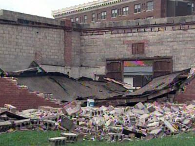 An abandoned building on East Pettigrew Street in Wilson collapsed Thursday.