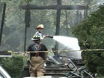 The house at 2567 Allison Cooper Road, near Henderson, caught on fire at about 11:30 a.m. Thursday.