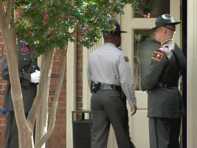 Troopers attendvistation for Trooper Andrew J. Stocks at the Brown-Wynne Funeral Home in Cary on Sept. 12, 2008.
