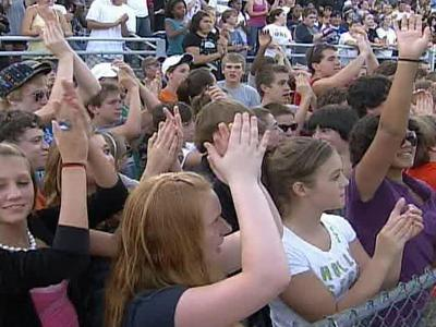 As many as 2,000 students were expected to attend Sunday's event at Milbrook High School.