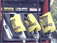 Gas pumps out of service, no gas